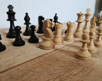 Vintage Chess Pieces- Boxed