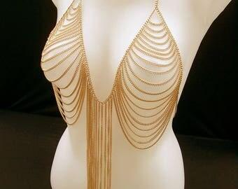 Body style strapless Urza body chain jewelry