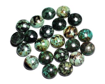 1pc - Cabochon stone - Turquoise round 15mm - 8741140000186 Africa