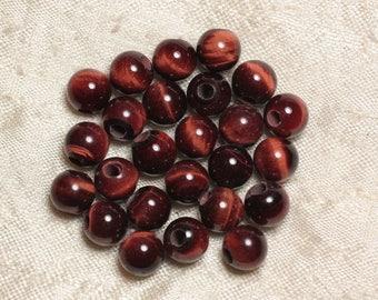 2PC - stone 2.5 mm hole beads - 8 mm 4558550027092 Bull's eye