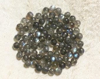 10pc - stone beads - Labradorite balls 4mm 4558550004376