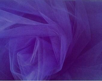 dark purple tulle width 120 cm