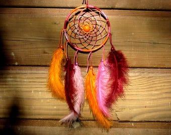 Dream catcher Orange-pink-bordeaux / actual 35 cm