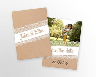 Save The Date - country - to customize