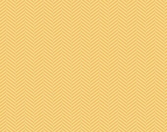 Fabric pattern graphic zig - zag yellow apple of my eye by Riley Blake