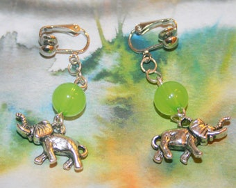 """""""Elephants"""" clips earrings"""