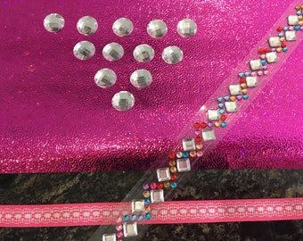 Rhinestones, tape, Ribbon and paper scrapbooking Kit