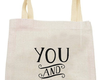 "TOTE BAG in linen ""you and me"""