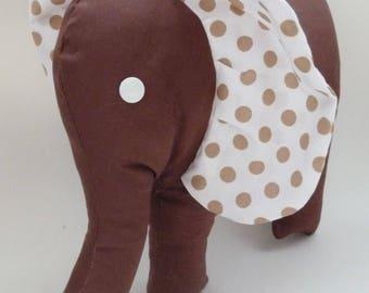 Brown polka dot Elephant plush toy