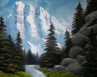 """Majestic Mountain - Original, Oil Painting on Canvas 16""""x 20"""""""