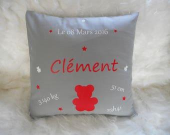 custom Cushion cover 40 x 40 cm grey