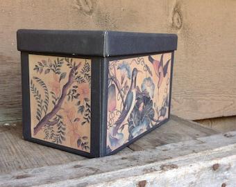 Vintage Bird Print Box