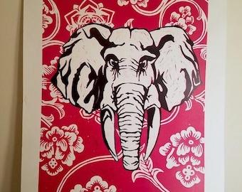 Handmade Elephant Print