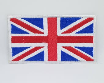 359# Union Jack Flag Embroiedery Sew On Iron On Patch