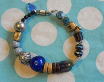 Bracelet ethnic cute blue elephant