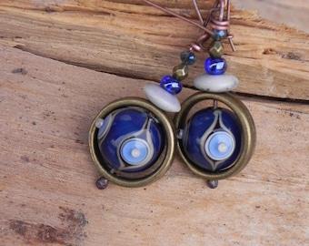 """ethnic earrings """"Saturn's rings"""""""