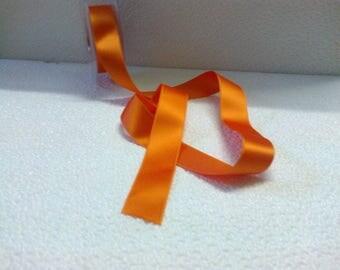 Orange satin ribbon wide 2.5 cm