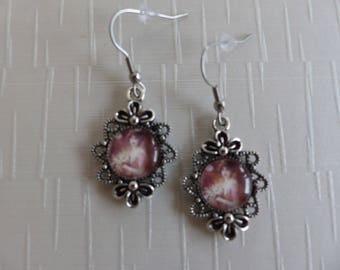 Pair of shabby chic style earrings