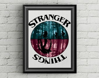 Stranger Things Poster | Wall Decor | Home Decor | Fan Art | Awesome Wall Art | Gift |