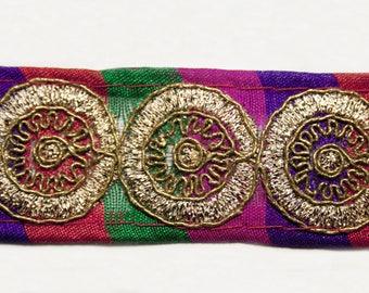 Multicolor Ribbon gold copper 3 cm x 1 m