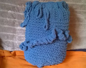 Blue acrylic wool bag
