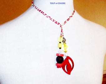 scarf necklace modular beads made 100% in France