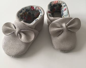 Soft leather slippers sparkly sequins size 20-gift idea