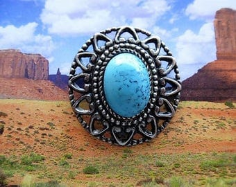 rivet concho cabochon howlite turquoise and silver style country cowboy for customistion jacket