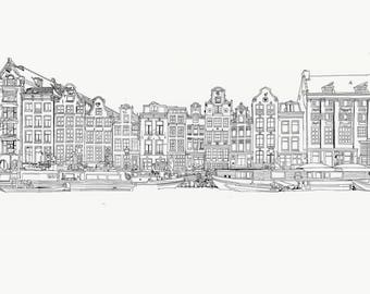 Amsterdam illustration by Naomi Turner