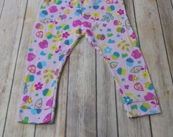 Pink acorn toddler leggings yoga pants