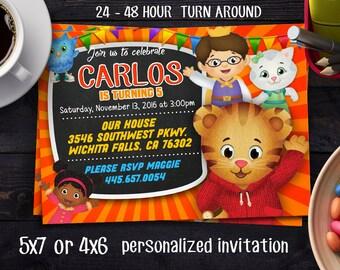 Daniel Tiger Birthday, Daniel Tiger Invitation, Daniel Tiger's Neighborhood Invitation, Daniel Tiger's Neighborhood Birthday Invitation