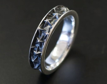 Mens Star Ring Sterling Silver Original Design Handmade in Tokyo Japan