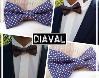 "Collection bow tie ""DIAVAL"" houndstooth men/teen/child/baby"
