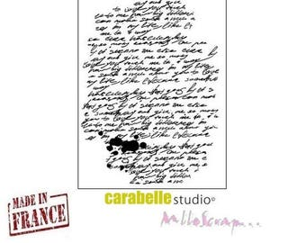 """""""Background writing"""" Carabelle Studio stamp made in France (ref.210) scrapbooking embellishment *."""