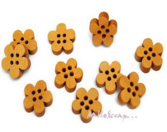 10 buttons flowers embellishment scrapbooking card making *.