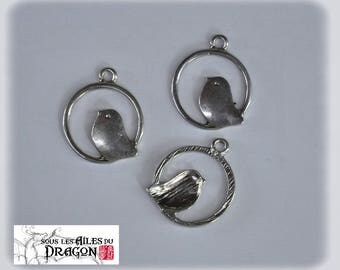 Birds charms in silver