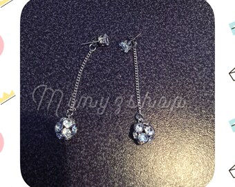 dangle earrings Crystal rhinestone balls