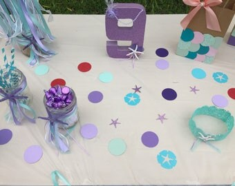 Table Confetti,  Decorative Confetti, Mermaid party supplies,  Birthday party decorations, Table accessories, Birthday party favors,