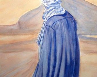The Tuareg (desert Blue Man) 21/30 cm