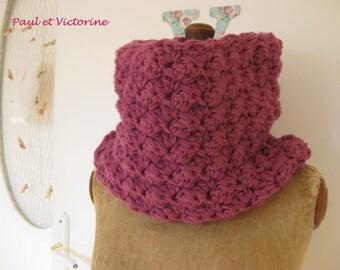 Plum crocheted Snood
