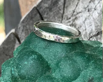 Simple Texured Silver Band ~ sz 7