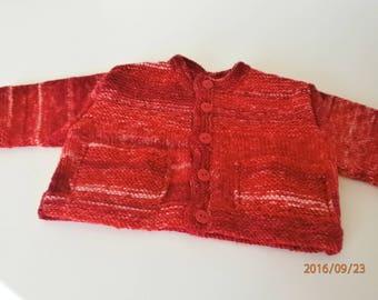 Red Jacket size premature handmade