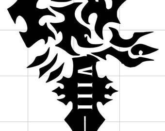 Final Fantasy VIII Lionheart Logo Decal