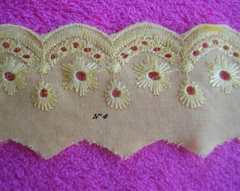 Coupon lace Anglaise yellow 3 m