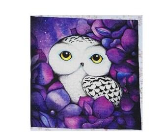 Patchwork OWL fabric coupon