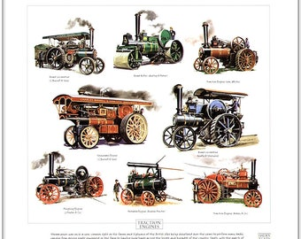 Traction Engines Fine Art Print (J.Fowler C.Burrell Aveling & Porter Robey)