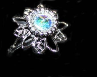 CRYSTAL SOLITAIRE RING