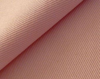 50cm of Gabardine light unie100% cotton light pink