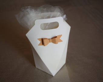 Ivory PVC box with bow