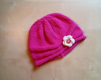 Handmade children's hat in cotton and wool